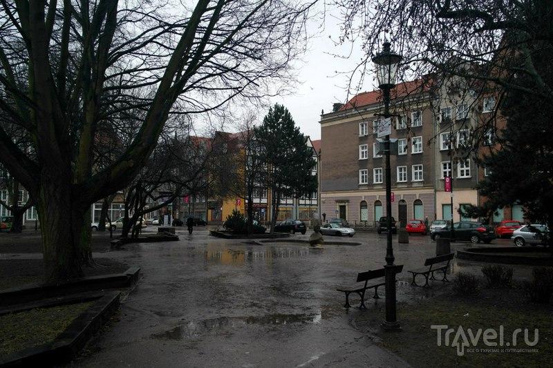 Гданьск, Польша - Прогулка от вокзала в поисках набережной / Польша