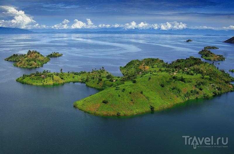 Озеро Киву с высоты птичьего полета