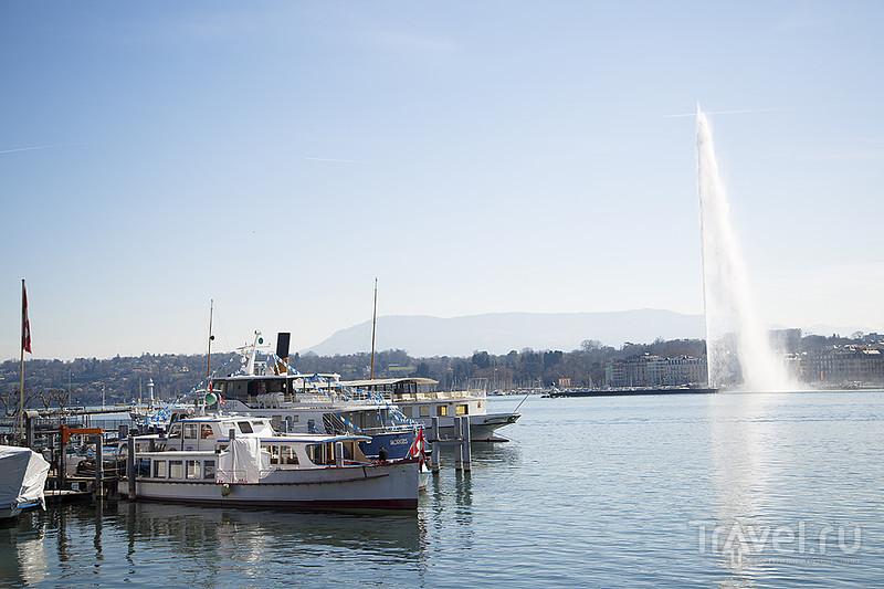 Женева с фонтаном и без. Фондю / Швейцария