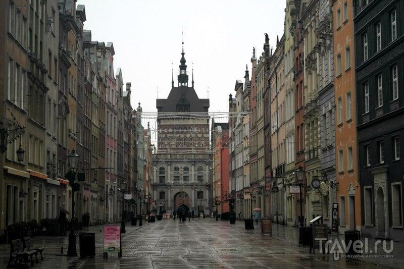 Гданьск, Польша - Длинный рынок и Длинная улица / Польша