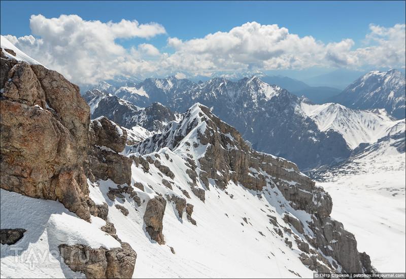 Zugspitze - самая высокая точка Германии / Фото из Германии