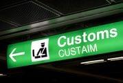Указатель зоны таможенного контроля в аэропорту