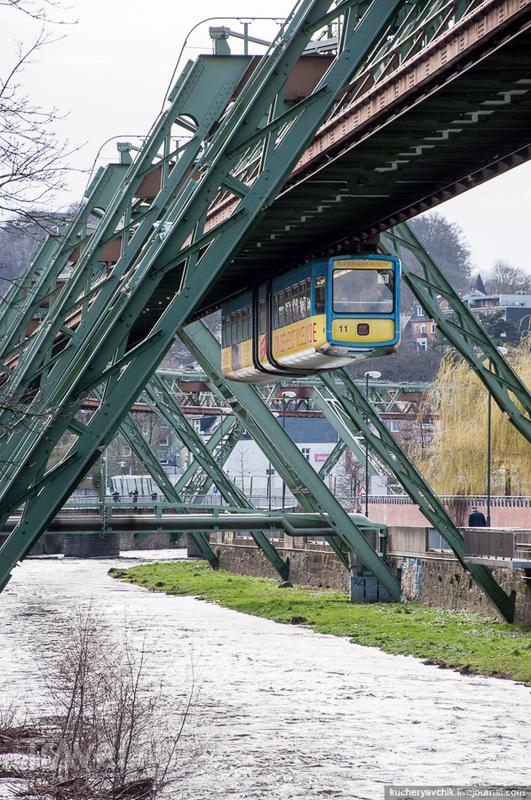 Вупперталь и подвесной трамвай / Германия