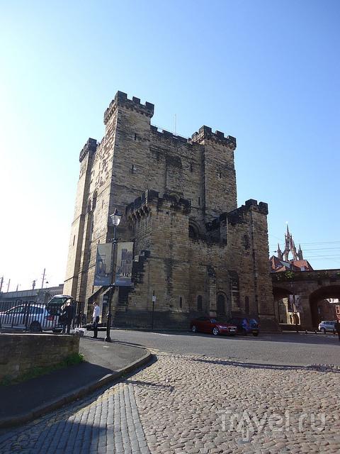 Город Ньюкасл и Newcastle Castle / Великобритания