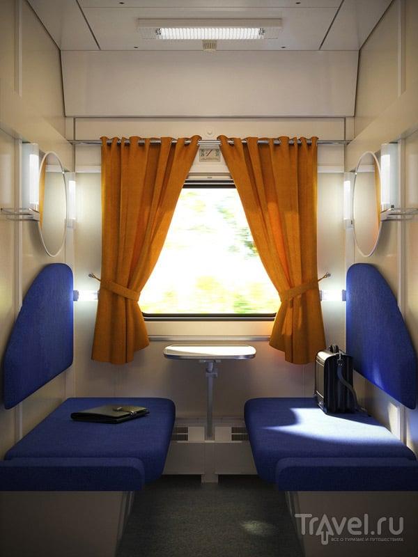 купе в поезде двухместное фото