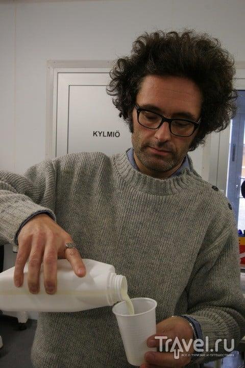 Финский milk. С корицей или фруктовым соком