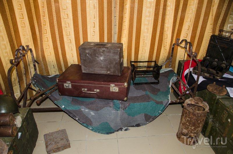 Походная складная кровать немецкого офицера. У советских воинов такой роскоши не было