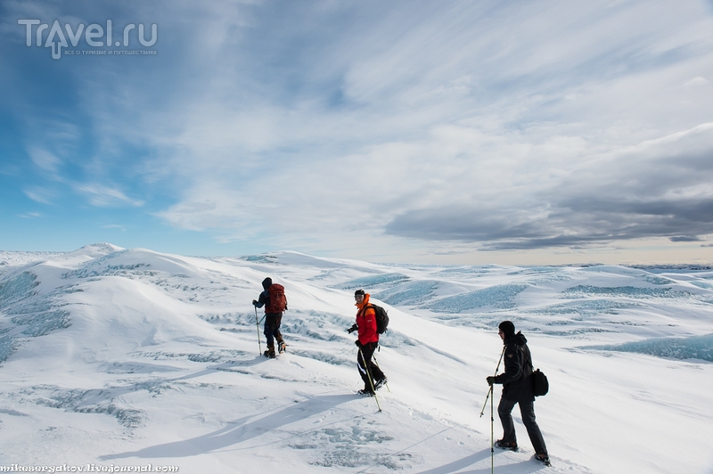 Ледяной щит Гренландии / Фото из Гренландии