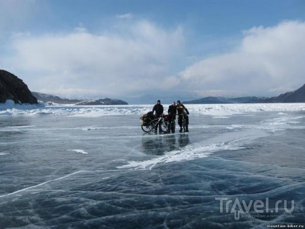Зимний велопоход по льду Байкала, Листвянка - Северобайкальск - источники Хакусы / Россия