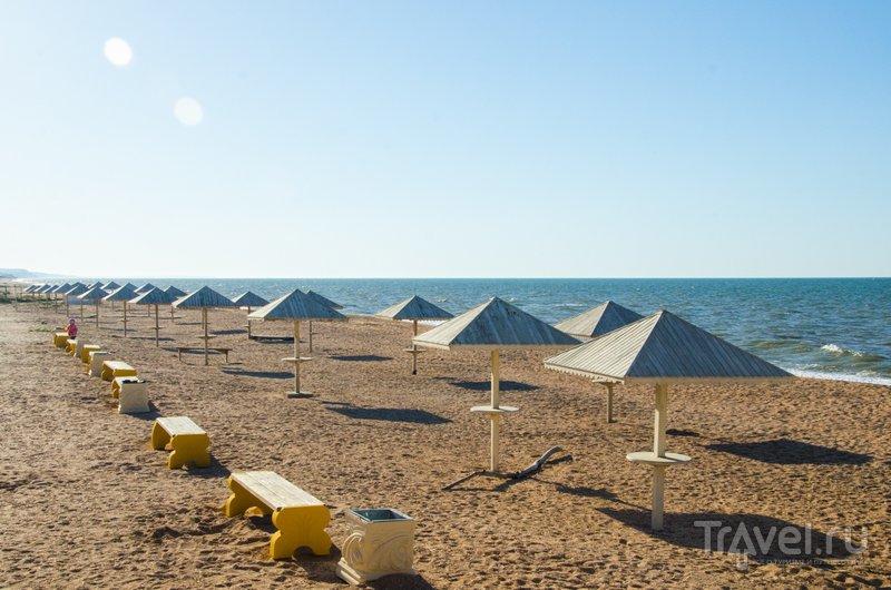 """Пляж """"Посейдон"""" на Азовском море"""
