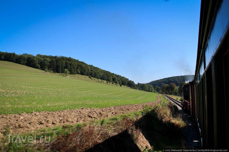 Покатушки под паром по Härtsfeldbahn'у / Фото из Германии