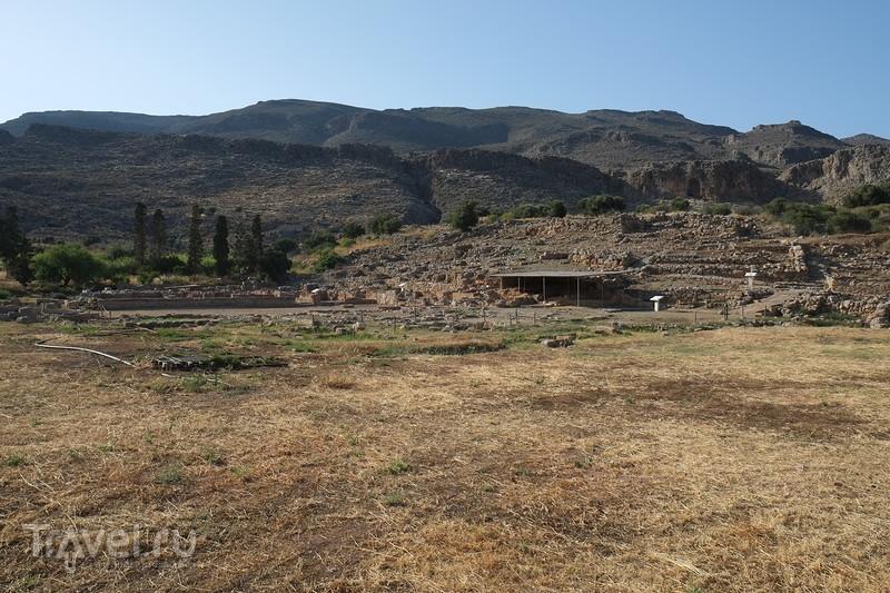 Крит. Пляж Ваи, раскопки Дворца царя Миноса у Закроса, Ксерокампос / Греция