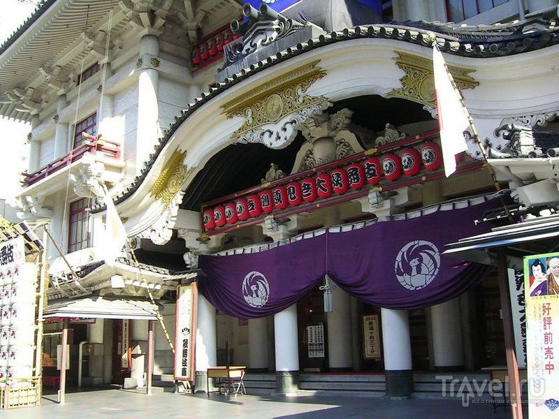 Театр Кабуки-дза в районе Гиндза