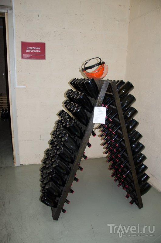 Отделение дегоржажа - так называет процесс удаления осадка из шампанского при классической технологии