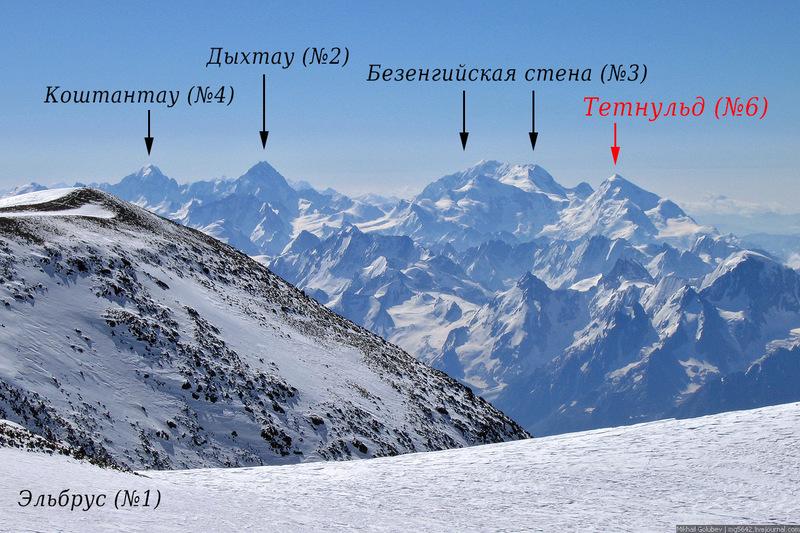 О вершинах Кавказа. Тетнульд и Джимарайхох / Фото из России
