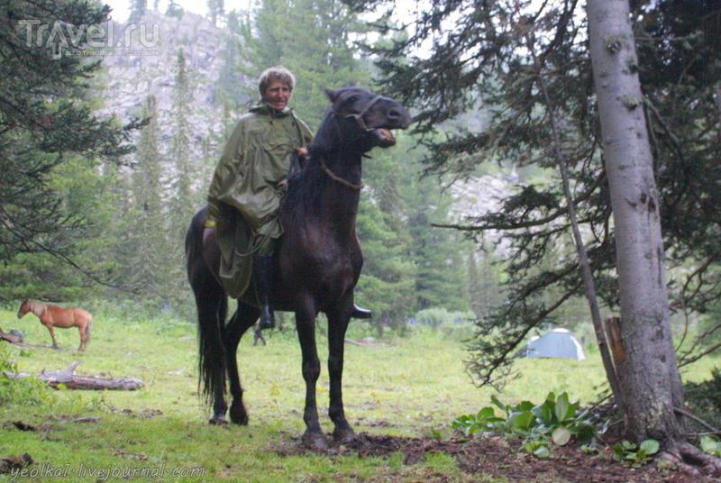 По Горному Алтаю на конях. Как помыть голову в ледяной горной речке / Россия