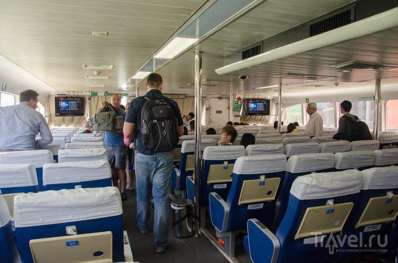 На борту парома. Билет в Чжухай стоит около 2 тысяч рублей / Фото из Китая