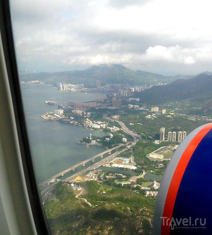 Пролетая над Гонконгом / Фото из Китая