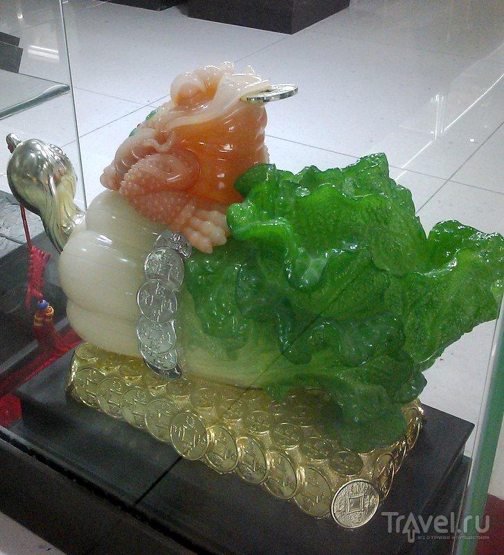 Жаба - символ денег. Возможно, капуста в китайском языке имеет тот же сленговый оттенок, что и в русском / Фото из Китая
