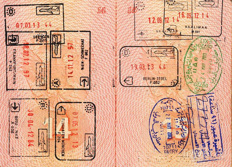 Штампы шенгенских стран и не только