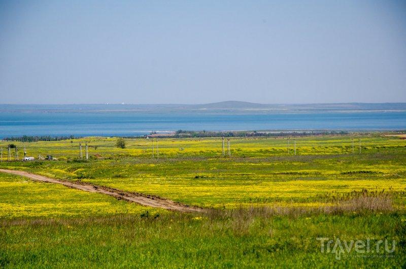 Вид на Таманский залив Черного моря