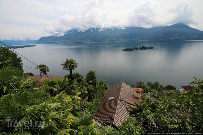 Oзеро Лаго-Маджоре и дорога на перевал / Фото из Швейцарии