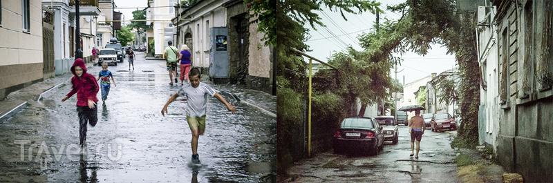 Евпатория, дождь, Караимские Кеннасы / Россия