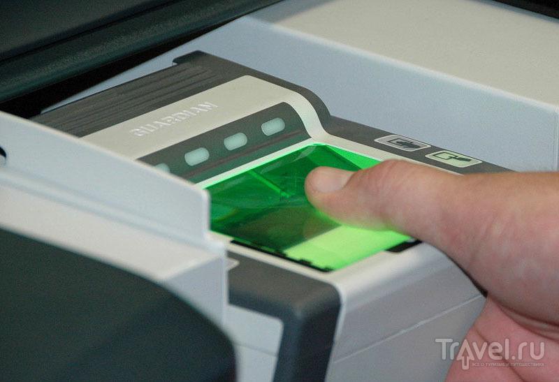 Сканирование большого пальца руки