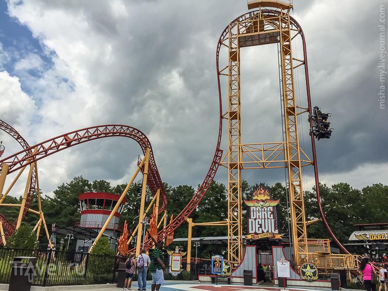США. Парк аттракционов Six Flags Over Georgia / Фото из США