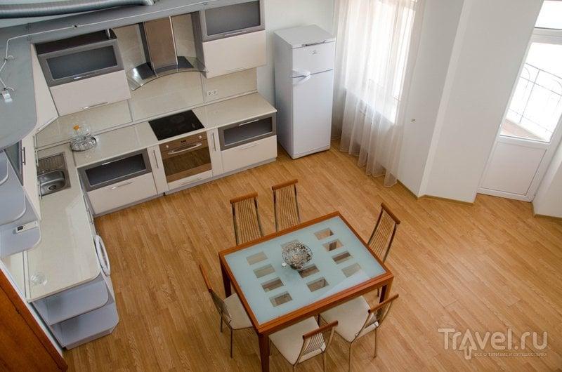 В этих апартаментах есть собственная кухня-столовая