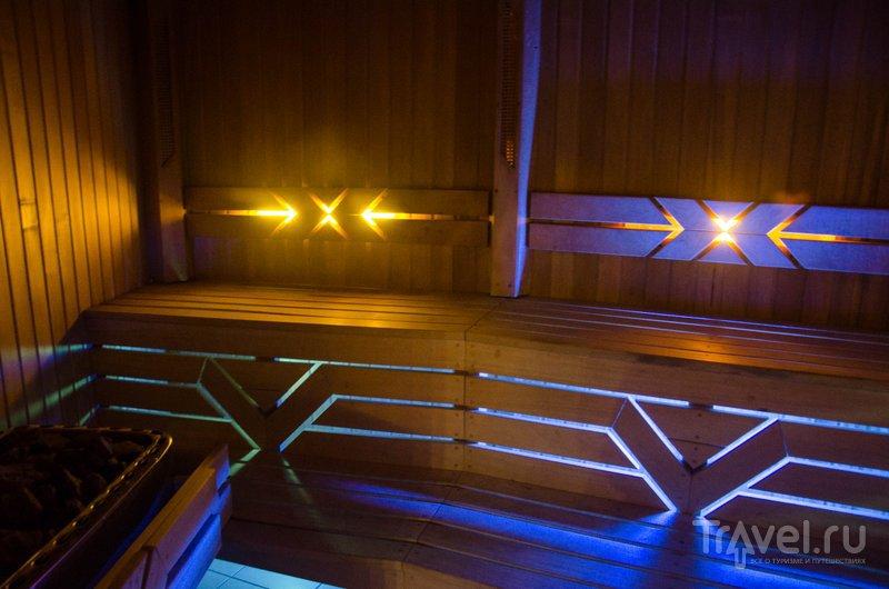 Сауна отеля похожа на космический корабль