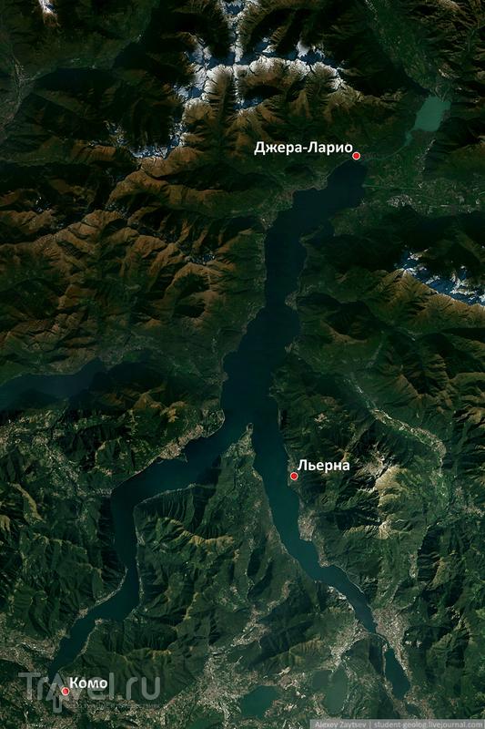Полеты на параплане над озером Комо / Фото из Италии