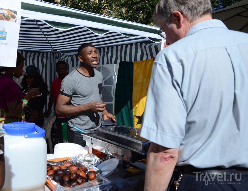 Африканская кухня на ресторанном дне в Хельсинки