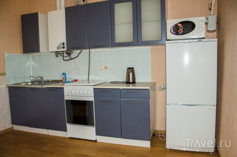 Во всех апартаментах есть просторная кухня