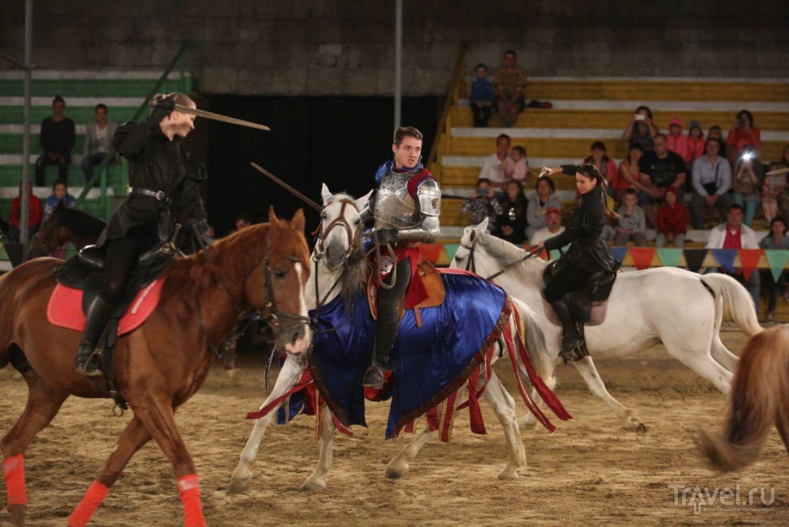 Главная изюминка - конные трюки