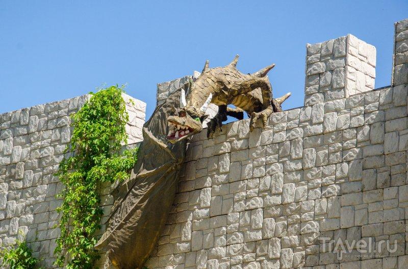 Дракон,охраняющий замок от врагов