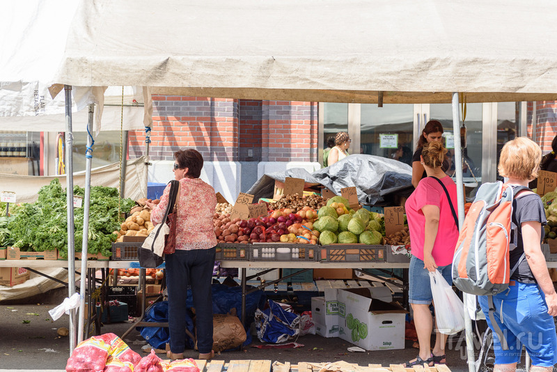 Фруктово-овощной рынок в центре Бостона / США
