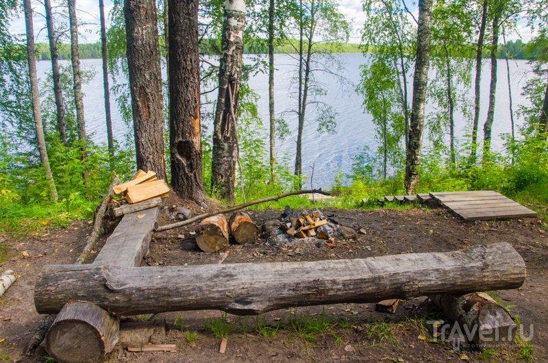 Подготовленная для туристов стоянка в Кенозерском национальном парке