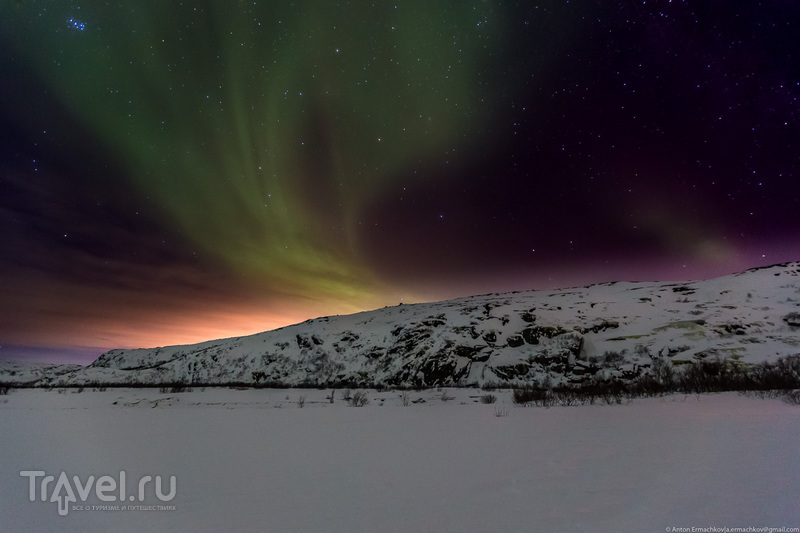 В погоне за северным сиянием. Сияние / Фото из России