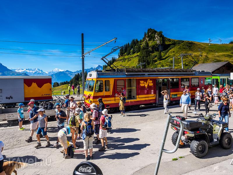 Почему в Швейцарии в поездах не бывает телевизоров и интернета / Фото из Швейцарии