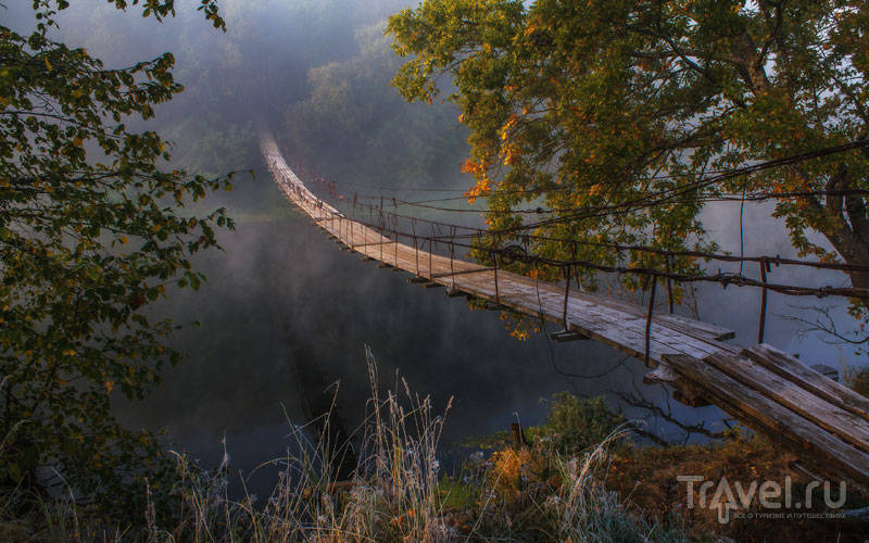 Подвесные мосты в Хотылево / Россия