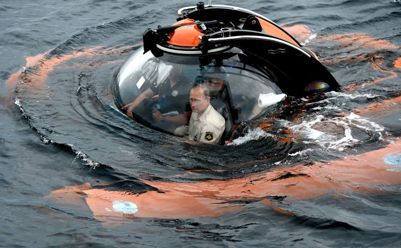 Погружение В.В. Путина на батискафе в Крыму
