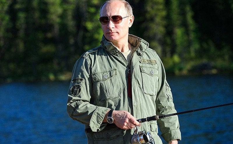 В.В. Путин на рыбалке в Тыве