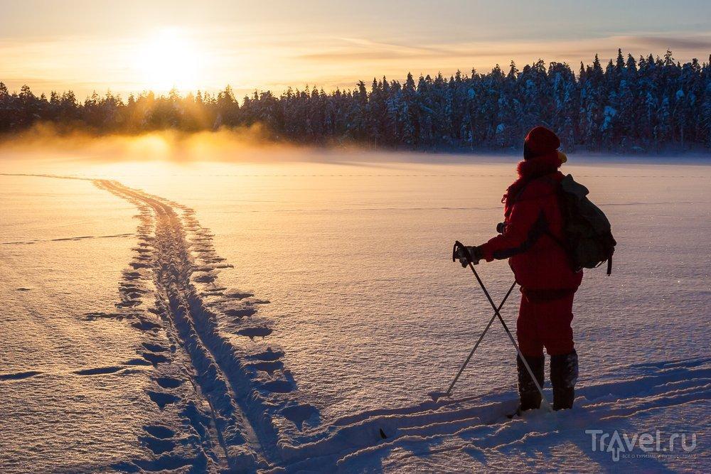 В Лапландии продолжены сотни километров лыжных трасс