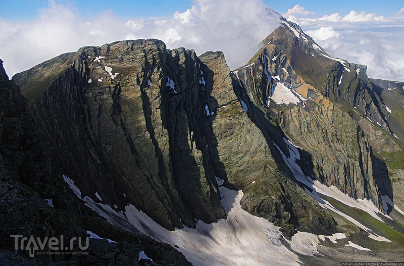 О вершинах Кавказа. Хребет Урсдоником / Фото из России
