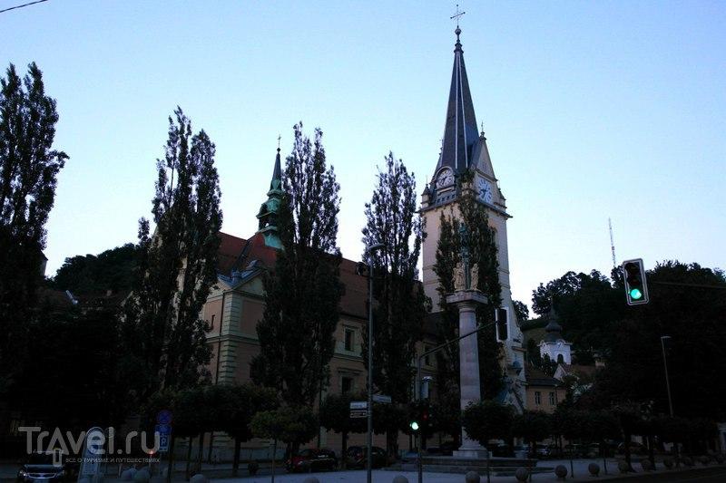 Любляна, Словения - прогулка по вечернему городу / Словения
