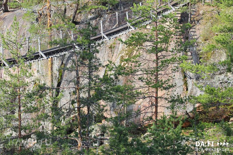 Висячий мост в Лапинсалми