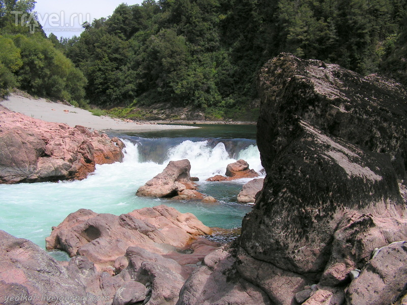 """В стране антиподов. """"Молочная река, кисельные берега"""". Бирюзово-розовое / Новая Зеландия"""