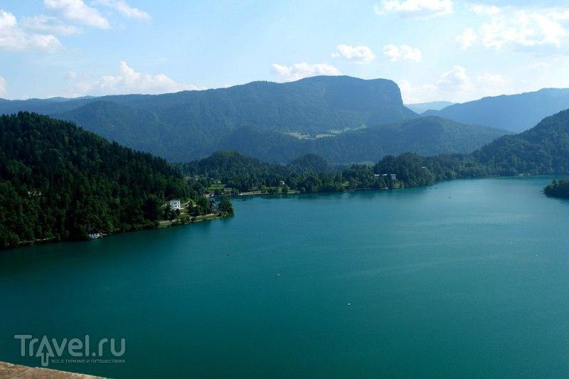 Бледское озеро с высоты / Словения