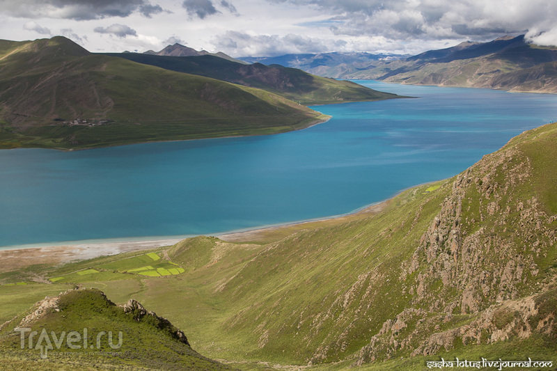 Тибет: бирюзовое озеро Ямдрок Цо / Фото из Китая